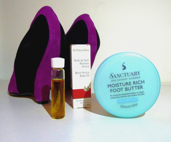 Anna Talks Beauty Dr Hauschka and Sanctuary foot butter