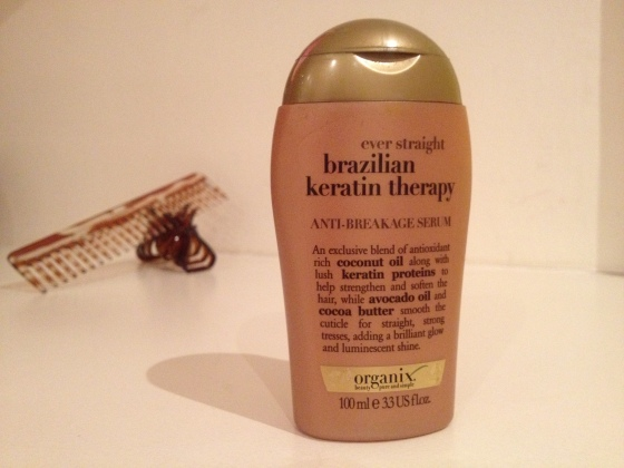 Organix Anti-Breakage Serum transforms by lack-luster hair
