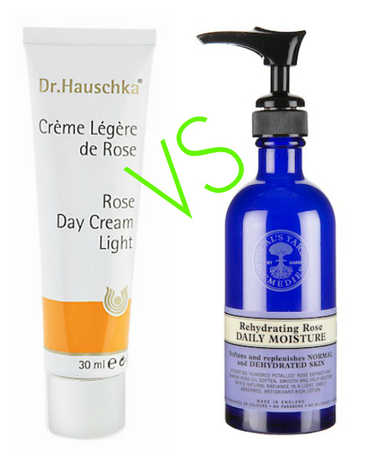 Battle of the Rose Moisturisers – Dr Hauschka Rose Day Cream Light & Neals Yard Remedies Rehydrating Rose Review